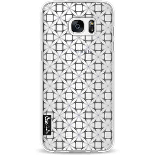 Casetastic Softcover Samsung Galaxy S7 Edge - Geometric Lines Silver