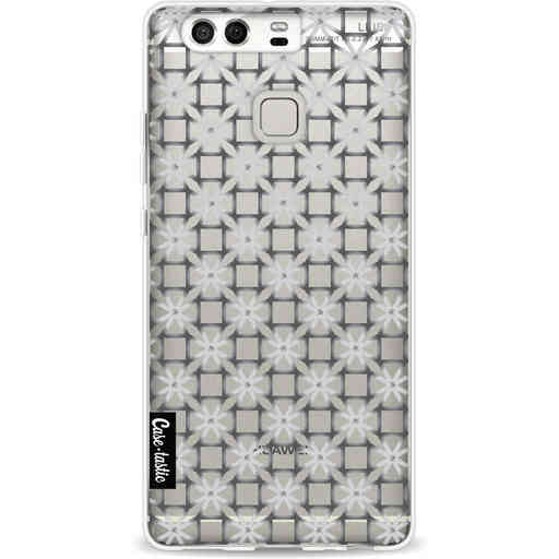 Casetastic Softcover Huawei P9 - Geometric Lines Silver