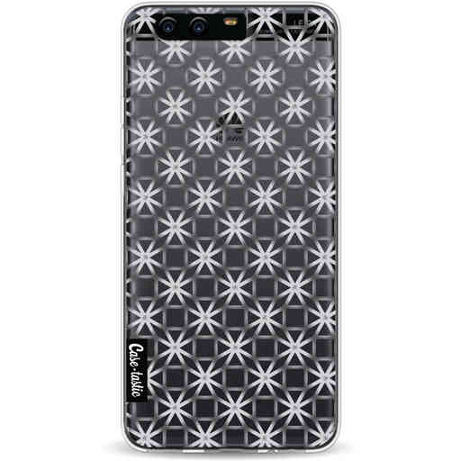 Casetastic Softcover Huawei P10 - Geometric Lines Silver