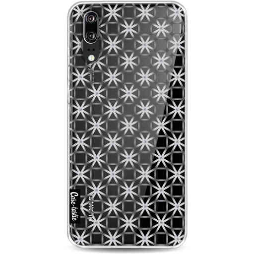 Casetastic Softcover Huawei P20 - Geometric Lines Silver