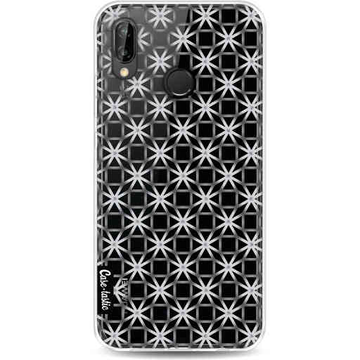 Casetastic Softcover Huawei P20 Lite (2018) - Geometric Lines Silver