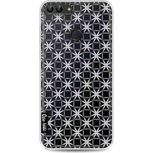 Casetastic Softcover Huawei P Smart - Geometric Lines Silver