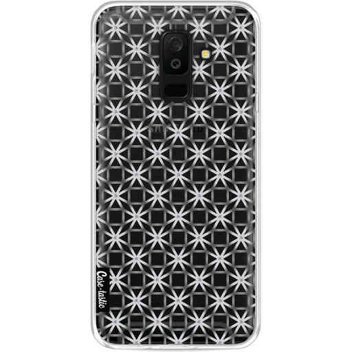 Casetastic Softcover Samsung Galaxy A6 Plus (2018) - Geometric Lines Silver