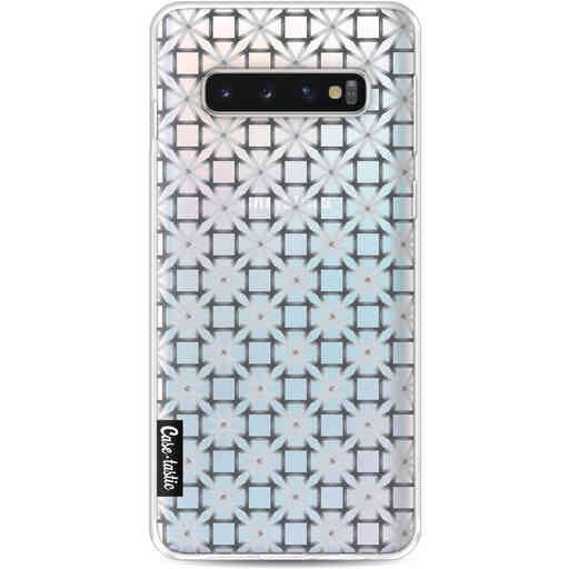 Casetastic Softcover Samsung Galaxy S10 - Geometric Lines Silver