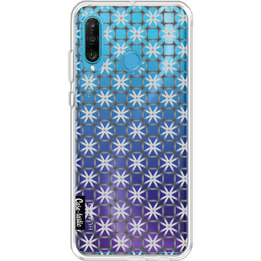 Casetastic Softcover Huawei P30 Lite - Geometric Lines Silver