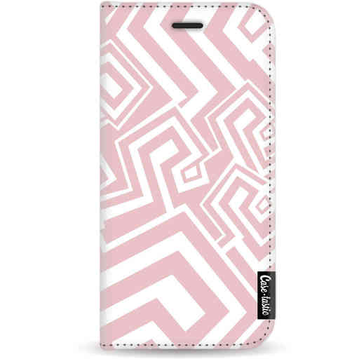 Casetastic Wallet Case White Apple iPhone X / XS - Abstract Pink Wave