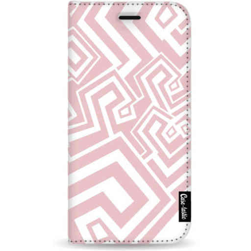 Casetastic Wallet Case White Samsung Galaxy Note 8 - Abstract Pink Wave