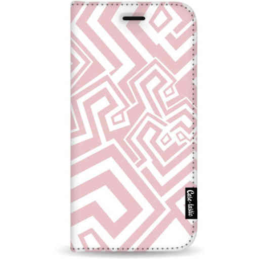 Casetastic Wallet Case White Samsung Galaxy A7 (2018) - Abstract Pink Wave