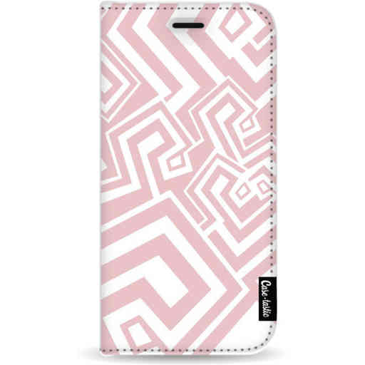 Casetastic Wallet Case White Samsung Galaxy A9 (2018) - Abstract Pink Wave