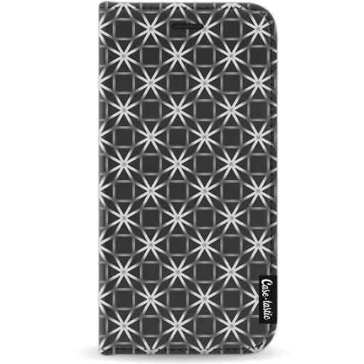 Casetastic Wallet Case Black Apple iPhone X / XS - Geometric Lines Silver