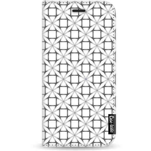 Casetastic Wallet Case White Apple iPhone X / XS - Geometric Lines Silver
