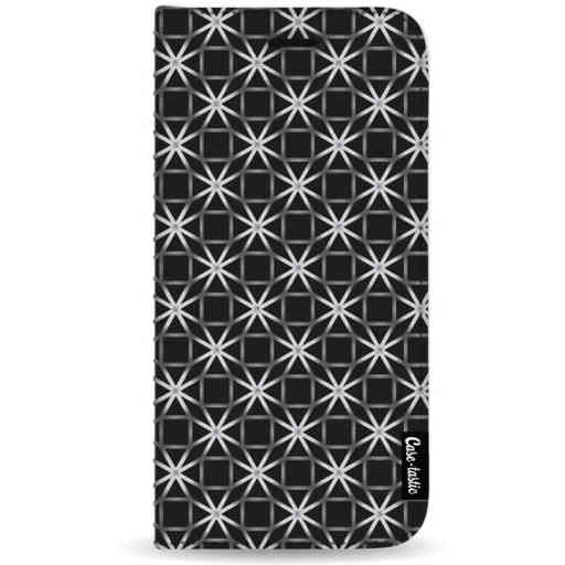 Casetastic Wallet Case Black Samsung Galaxy Note 8 - Geometric Lines Silver