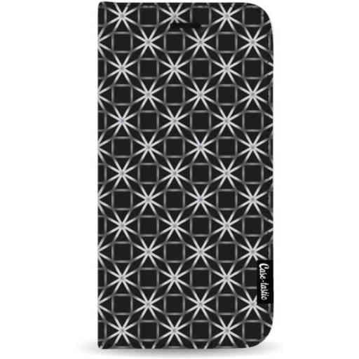 Casetastic Wallet Case Black Samsung Galaxy A7 (2018) - Geometric Lines Silver