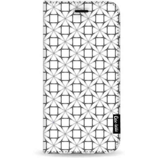 Casetastic Wallet Case White Samsung Galaxy A7 (2018) - Geometric Lines Silver