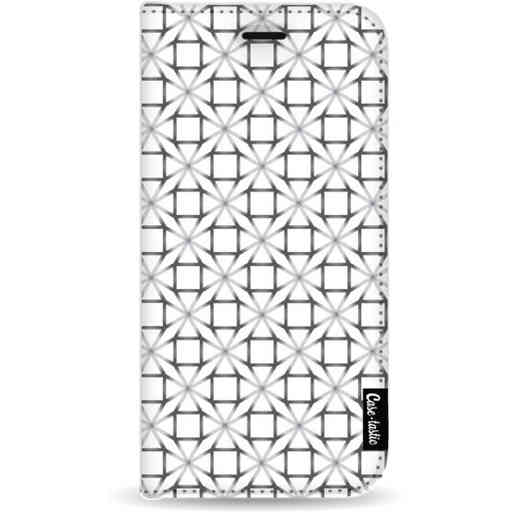 Casetastic Wallet Case White Samsung Galaxy A9 (2018) - Geometric Lines Silver