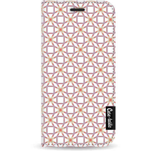 Casetastic Wallet Case White Apple iPhone 5 / 5s / SE - Geometric Lines Sweet