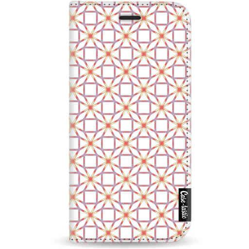Casetastic Wallet Case White Apple iPhone X / XS - Geometric Lines Sweet