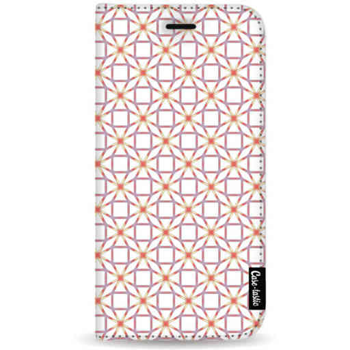 Casetastic Wallet Case White Samsung Galaxy Note 8 - Geometric Lines Sweet
