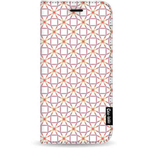 Casetastic Wallet Case White Samsung Galaxy A7 (2018) - Geometric Lines Sweet
