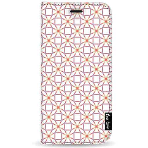 Casetastic Wallet Case White Samsung Galaxy A9 (2018) - Geometric Lines Sweet