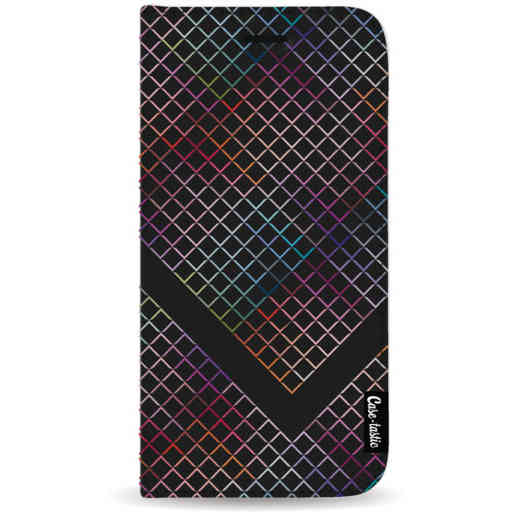 Casetastic Wallet Case Black Samsung Galaxy Note 8 - Rainbow Squares