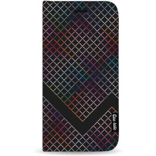 Casetastic Wallet Case Black Samsung Galaxy A7 (2018) - Rainbow Squares