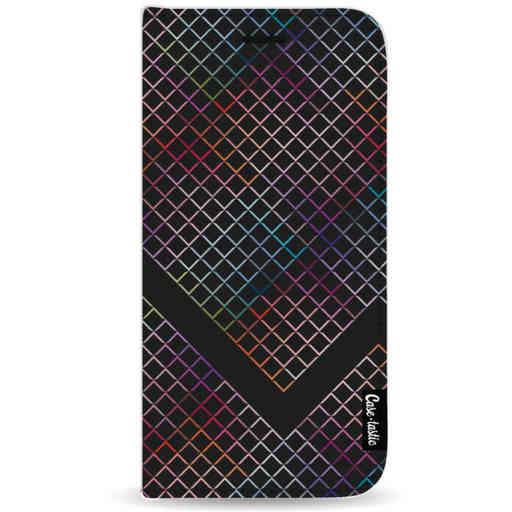 Casetastic Wallet Case Black Samsung Galaxy A9 (2018) - Rainbow Squares