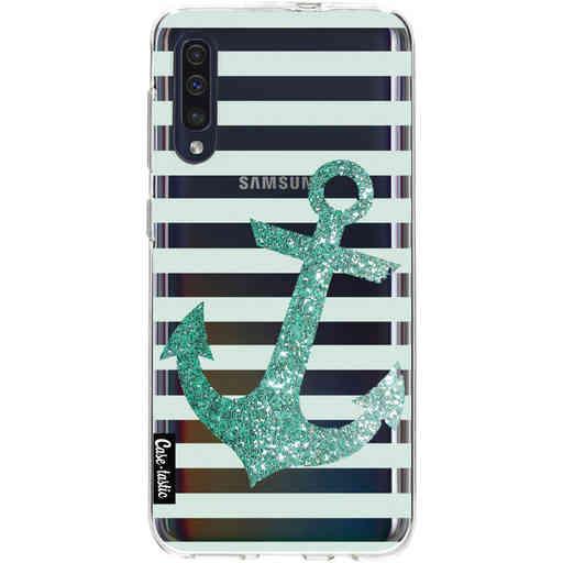 Casetastic Softcover Samsung Galaxy A50 (2019) - Glitter Anchor Mint