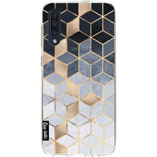 Casetastic Softcover Samsung Galaxy A50 (2019) - Soft Blue Gradient Cubes
