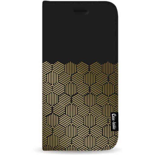 Casetastic Wallet Case Black Samsung Galaxy A50 (2019) - Golden Hexagons