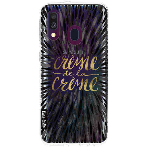 Casetastic Softcover Samsung Galaxy A40 (2019) - Creme de la Creme Black