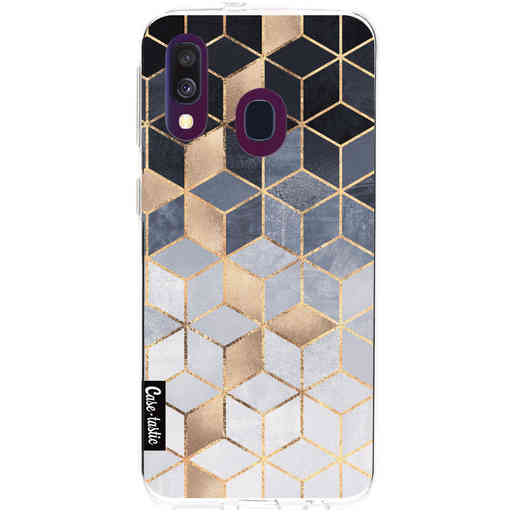 Casetastic Softcover Samsung Galaxy A40 (2019) - Soft Blue Gradient Cubes