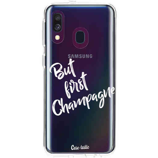 Casetastic Softcover Samsung Galaxy A40 (2019) - But First Champagne