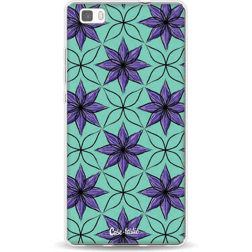 Casetastic Softcover Huawei P8 Lite - Statement Flowers Purple