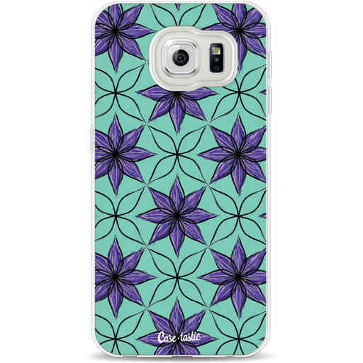 Casetastic Softcover Samsung Galaxy S6 - Statement Flowers Purple