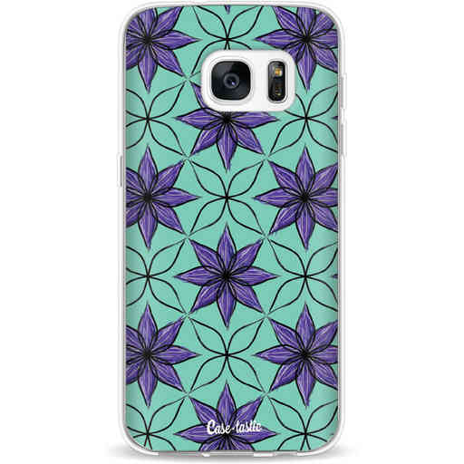 Casetastic Softcover Samsung Galaxy S7 - Statement Flowers Purple