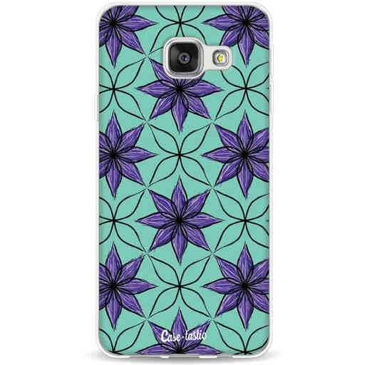 Casetastic Softcover Samsung Galaxy A3 (2016) - Statement Flowers Purple