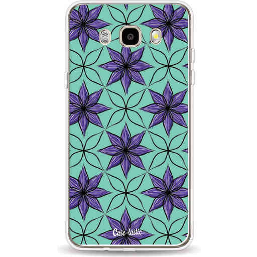 Casetastic Softcover Samsung Galaxy J5 (2016) - Statement Flowers Purple