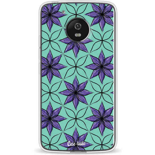 Casetastic Softcover Motorola Moto G5 - Statement Flowers Purple