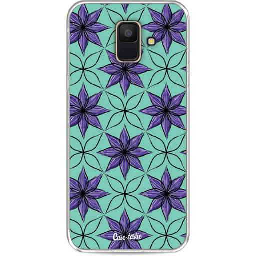 Casetastic Softcover Samsung Galaxy A6 (2018) - Statement Flowers Purple