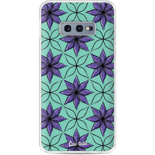 Casetastic Softcover Samsung Galaxy S10e - Statement Flowers Purple