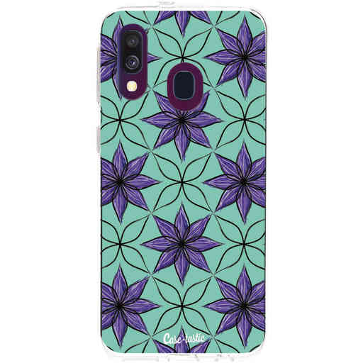 Casetastic Softcover Samsung Galaxy A40 (2019) - Statement Flowers Purple