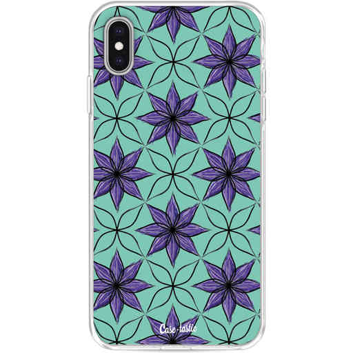 Casetastic Softcover Apple iPhone XS Max - Statement Flowers Purple