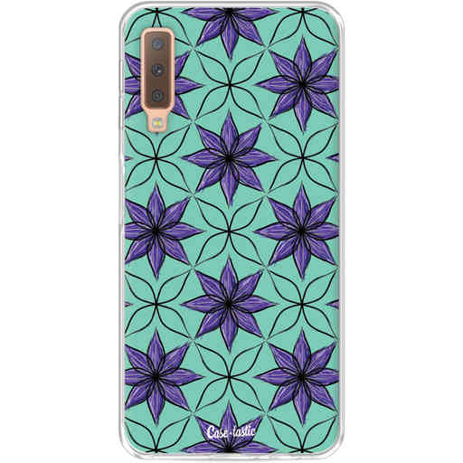 Casetastic Softcover Samsung Galaxy A7 (2018) - Statement Flowers Purple