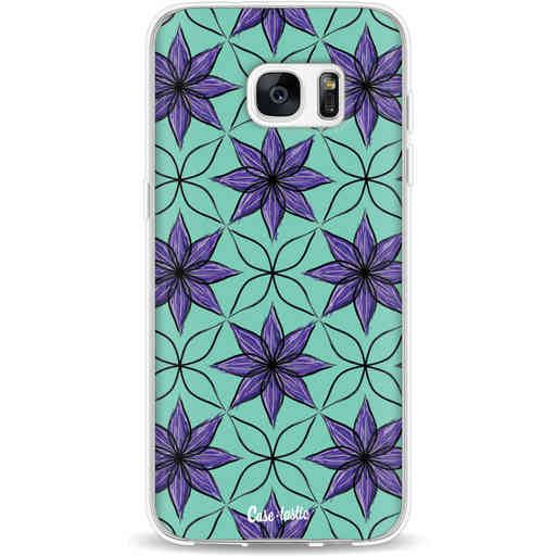 Casetastic Softcover Samsung Galaxy S7 Edge - Statement Flowers Purple