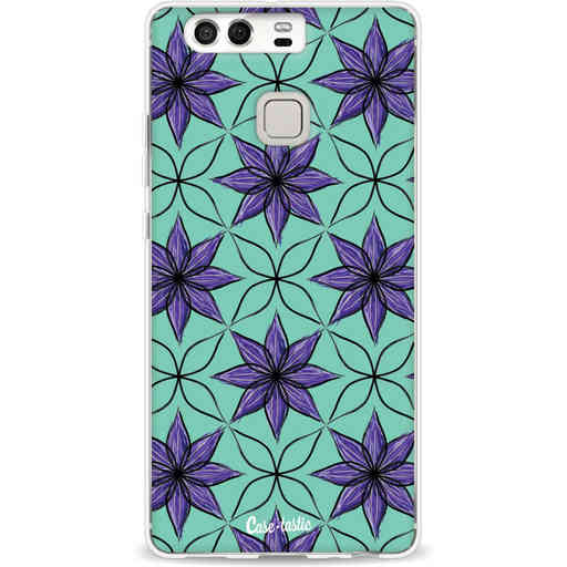 Casetastic Softcover Huawei P9 - Statement Flowers Purple