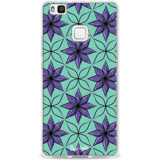 Casetastic Softcover Huawei P9 Lite - Statement Flowers Purple