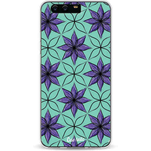 Casetastic Softcover Huawei P10 - Statement Flowers Purple