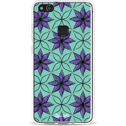 Casetastic Softcover Huawei P10 Lite - Statement Flowers Purple
