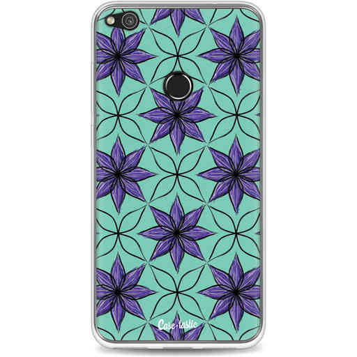 Casetastic Softcover Huawei P8 Lite (2017) - Statement Flowers Purple
